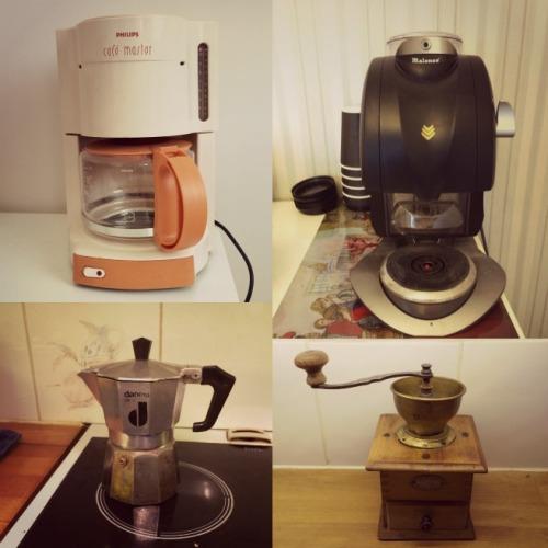 Talosta löytyvät kahvinkeittimet. Jokaiselle jotakin!