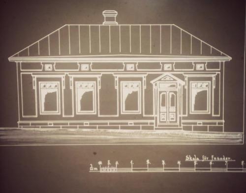 Talon julkisivu mikrofilmiltä kuvattuna.