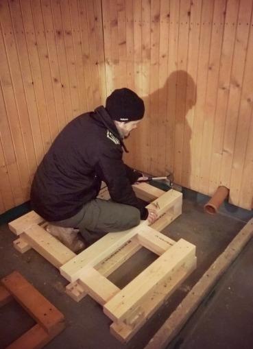 saunan rakennusta lauteet 1